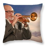 Mike Vax Professional Trumpet Player Photographic Print 3765.02 Throw Pillow