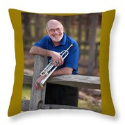 Mike Vax Professional Trumpet Player Photographic Print 3766.02 Throw Pillow