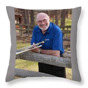 Mike Vax Professional Trumpet Player Photographic Print 3767.02 Throw Pillow