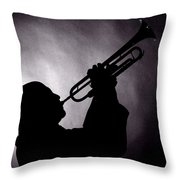 Mike Vax Professional Trumpet Player Photographic Print 3768.02 Throw Pillow