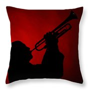 Mike Vax Professional Trumpet Player Photographic Print 3769.02 Throw Pillow