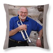Mike Vax Professional Trumpet Player Photographic Print 3770.02 Throw Pillow