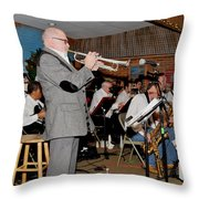 Mike Vax Professional Trumpet Player Photographic Print 3772.02 Throw Pillow