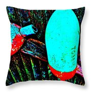 Mike's Art Fence 126 Throw Pillow