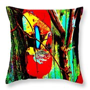Mike's Art Fence 128 Throw Pillow