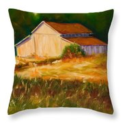 Mike's Barn Throw Pillow