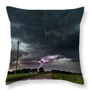 Mikey's Lightning  Throw Pillow