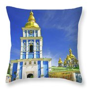 Mikhailovsky Golden-roof Cathedral Throw Pillow