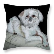 Miki Dog Throw Pillow