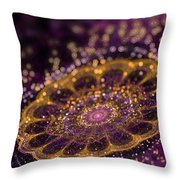 Mikroskopic I Throw Pillow by Sandra Hoefer