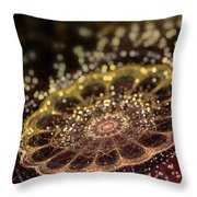 Microskopic II Throw Pillow by Sandra Hoefer