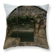 Mikvah - Ritual Pool - Of The Arizal Throw Pillow