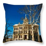 Milam County Courthouse Throw Pillow