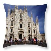 Milan Cathedral Throw Pillow by Milan Mirkovic