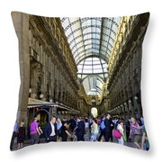 Milan Shopping Mall Throw Pillow