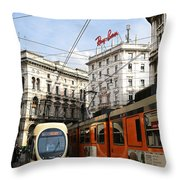 Milan Trolley 4 Throw Pillow