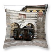 Milan Trolley 5 Throw Pillow