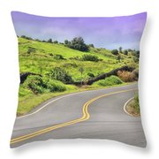 Mile 17 Throw Pillow