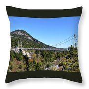 Mile-high Bridge Throw Pillow