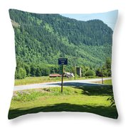 Mile Marker 100 Throw Pillow
