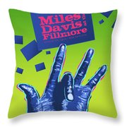 Miles At The Fillmore Throw Pillow