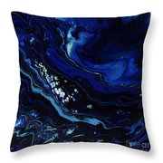 Miles Below Throw Pillow