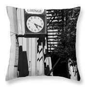 Miles City, Montana - Downtown Clock Bw Throw Pillow