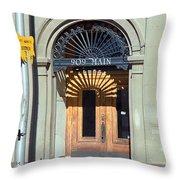 Miles City, Montana - Downtown Entrance Throw Pillow