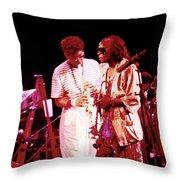 Miles Davis Image 10 And Bob Berg 1985 Your Under Arrest Tour Throw Pillow