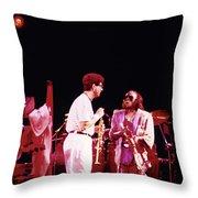 Miles Davis Image 9  With Bob Berg  Throw Pillow