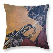 Miles Davis Throw Pillow