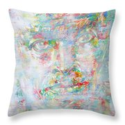 Miles Davis - Watercolor Portrait.4 Throw Pillow