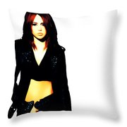 Miley Cyrus 8b Throw Pillow