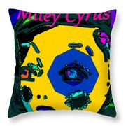 Miley Cyrus At Five With An Attitude Print Throw Pillow