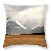Milford Sound Mountains On South Island New Zealand Throw Pillow