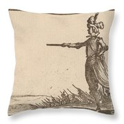 Military Commander On Foot Throw Pillow