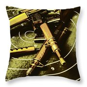 Military Green Pop Art  Throw Pillow