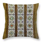 Military Insignia On Stained Glass - Meuse Argonne - East Throw Pillow