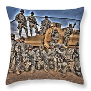 Military Police Pose For This Hdr Image Throw Pillow