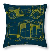 Military Vehicle Body Patent Drawing 1a Throw Pillow