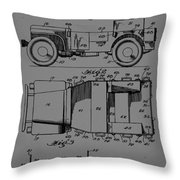 Military Vehicle Body Patent Drawing 1d Throw Pillow
