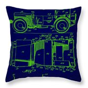 Military Vehicle Body Patent Drawing 1e Throw Pillow