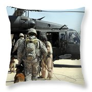 Military Working Dog Handlers Board Throw Pillow