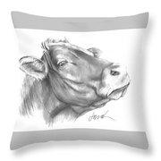 Milk Cow Throw Pillow