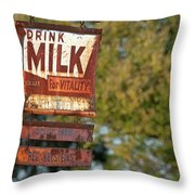 Milk Sign Throw Pillow