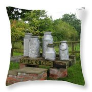 Milkcans Wiltshire England Throw Pillow