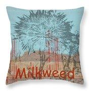 Milkweed Collage Throw Pillow
