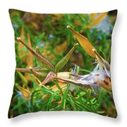 Milkweed Waiting For The Monarchs Throw Pillow