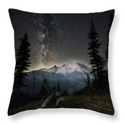 Milky Mountain Throw Pillow