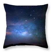 Milky Way At 9 Mile Pond Throw Pillow